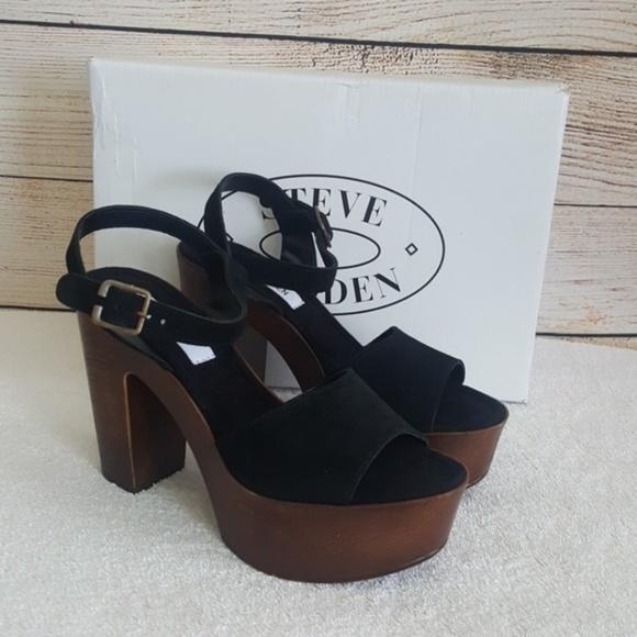6aedb3eacf86 New Steve Madden Lulla Suede Platform Sandals